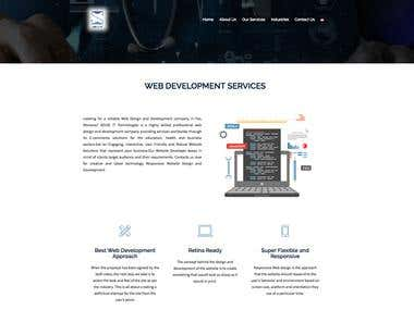 This is a software services company website. It's clean, responsive and very fast.