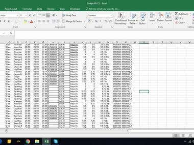 Data Entry from  Professional Vendor site  to Excel or Spreadsheet.
