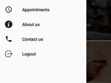 Both platforms IOS and Android mobile applications. To make it easy for the customer to book with any desired salon. Customer sign up. Customer login Select Appointment Date & Time