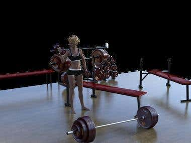 creating 3d animated gym exercises videos and poses