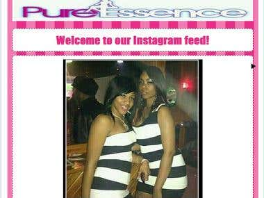 "Instagram Feed custom Facebook tab developed for ""Pure Essence"""