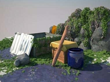 Series of my 3D work for freelance projects.