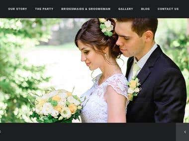Wedding Photography Website in wordpress