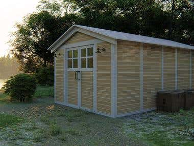 Simple SHED rendering for commercial use (5 hours)