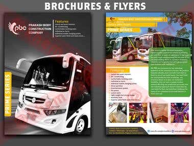 Brochures and Flyers. Client work , Requirement 2 Page Brochure with Cover page Automobile