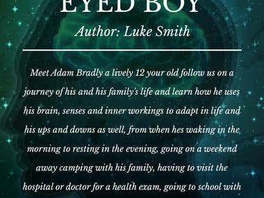 """Book cover design of our UK based client for his Sci-fi book """"Anatomy Of A Green Eyed Boy"""""""