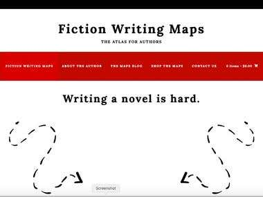 Website promoting a book that outlines fiction writing strategies.