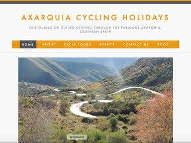 Website for cycling holiday company based in Axarquia, Spain.