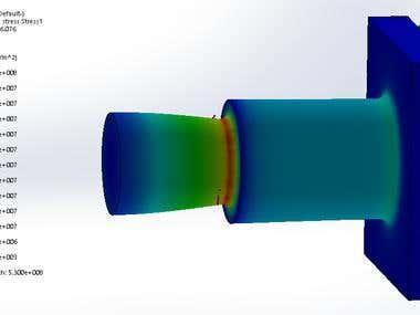 Stress simulation using Solidworks to determine the stiffness