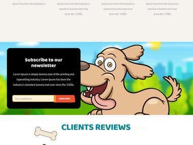 HTML Website Design for Dog