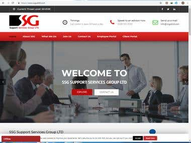 It is a WordPress website.  This is the link of website http://www.ssgukltd.com/