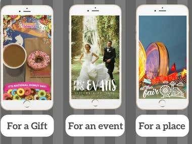 I will design your short ads for snapchat story prmotion and custome filter design