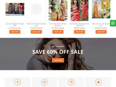 Vashtram is e-commerce website. is created using Magento, HTML5, css3, sass, Bootstrap, javascript, jQuery, php script.