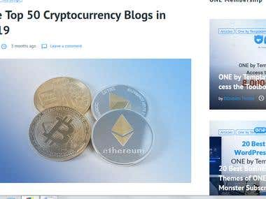 Articles on cryptocurrency