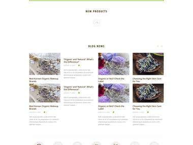 Work done on website naturestattva.com before and after work images attached please checkout