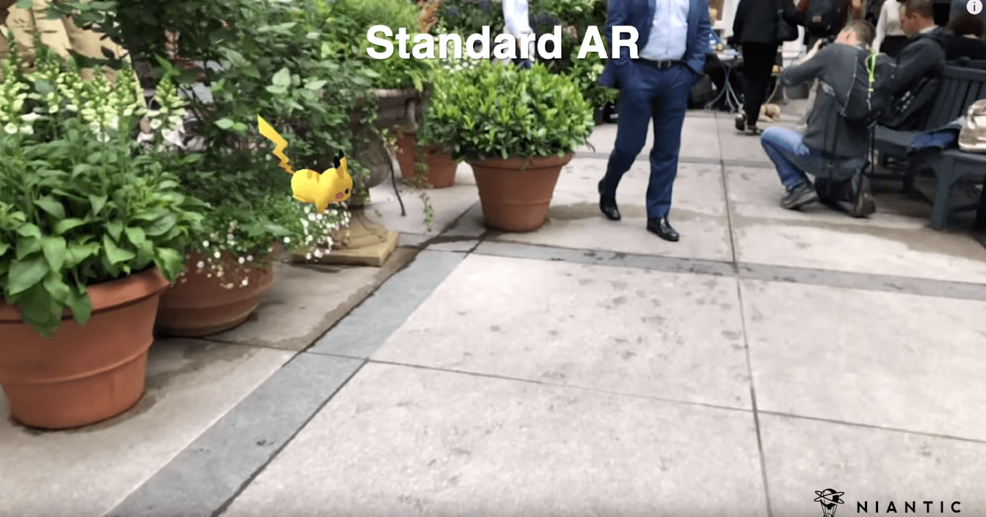 Standard AR without occlusion technology - nianticlabs.com