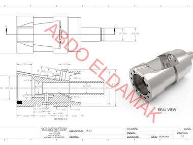 Technical & Manufacturing Drawing For Mechanical parts of rotating motors