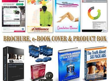 All types of Corporate Brochure-Annual Report-Special Magazine, e-book cover for amazon style and Anytipes of Product CD, DVD, Blue Ray cover with Box.