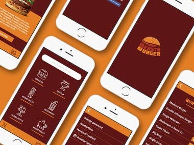 I have designed the UI/UX of this mobile app of Fast Food company.
