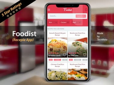 Recipe Application by TechMelo got 5 stars.