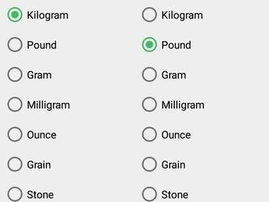 This Application is Unit converter. Example, - Currency (US dollar, CDN dollar, pound, peso, etc) - Temperature (celsius, fahrenheit, kelvin, etc) - Length (kilometer, miles, meter, yard, feet, etc) - Mass/Weight (kilogram, pound, ounce, ton, stone, etc) - Speed (km/h, mph, knot, etc) - Area (square kilometer, square mile, hectare, acre, etc) - Cooking (teaspoon, tablespoon, cup, pint, quart, ounce, etc) - Volume (cubic metres, cubic inches, litres, gallons, etc) - Pressure (kilopascal, bar, PSI, etc) - Power (watt, kilowatt, horsepower, etc) - Energy (joule, calorie, BTU, etc) - Time (year, month, day, hour, second, etc) - Fuel Consumption (miles per gallon, liters per 100km, etc) - Digital Storage (bit, byte, megabytes, gigabytes, etc)