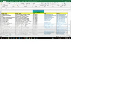 From the yellowpage website collect data from various types of company or information.