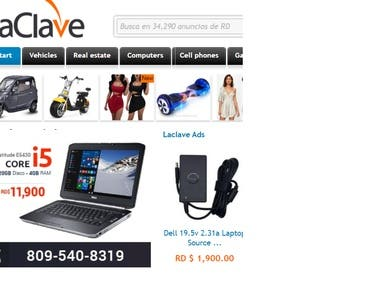 LaClave is a classified portal of Dominican Republic, where you can publish free advertisements of products and services. In LaClave, you can find ads for buying and selling any type of items, such as used cars, electronics, clothes, shoes, furniture, appliances, as well as sale and rental of houses and apartments.  We are developing this site for more than 10 years for our client and is successfully following the trend and implementing all new standards for the site like this.