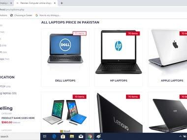 e-commerce website for Pakistan computer