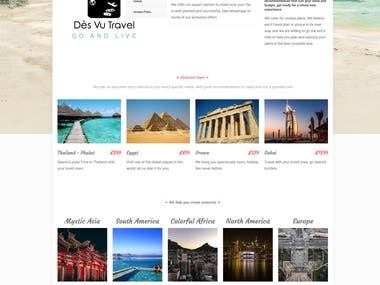 A travel website for a client that needs a site that display his services and information, website consist of 3 pages and also contact us forms, responsive design and a very dynamic back end