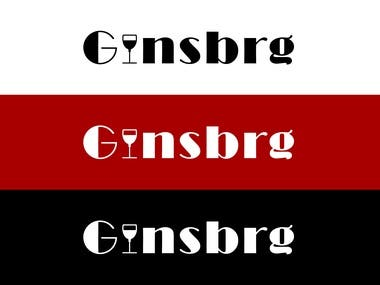 Logo Design for Ginsberg bar.