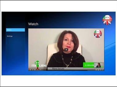 Samsung Tizen TV Application