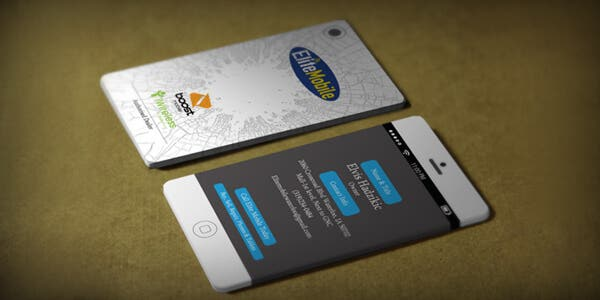 Mobile design for modern business card