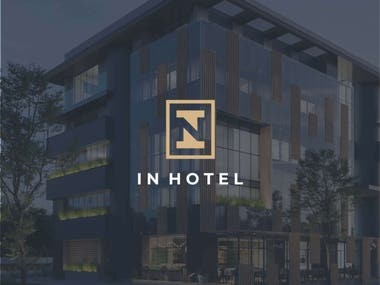 Logo design for new hotel in Banja Luka. The idea for logo was to make negativ space logo using first letters from business name, I and N.