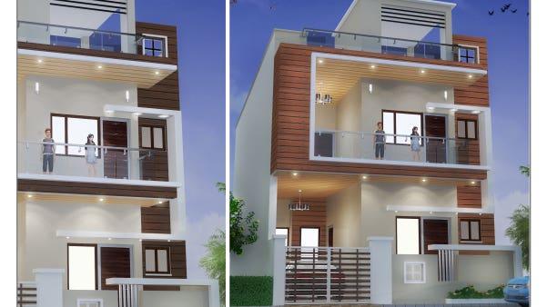 3d Max House Elevation Design House Designs